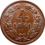 4 Kreuzer - Franz Joseph I -  reverse
