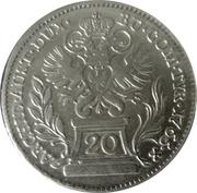 20 Kreuzer - Maria Theresia (Hall) -  reverse