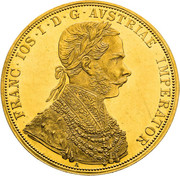 4 Ducat - Franz Joseph I -  obverse