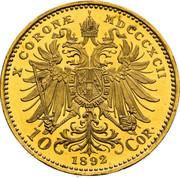 10 Corona - Franz Joseph I (patterns) -  reverse