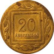 20 Heller (K&K POW Freistadt) – reverse