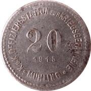 20 Heller (K&K POW Mühling) – reverse