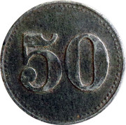50 Heller (K&K POW Ausserfelden) -  reverse
