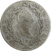 10 Kreuzer - Joseph II -  obverse