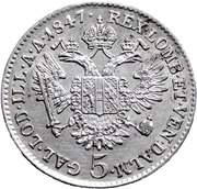 5 Kreuzer - Ferdinand I -  reverse