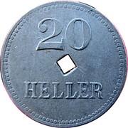 20 Heller (K&K POW Braunau) – reverse