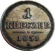 1 Kreuzer - Franz Joseph I -  reverse