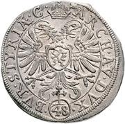 48 Kipper Kreuzer - Ferdinand II (Graz) -  reverse