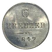 6 Kreuzer - Franz Joseph I -  reverse