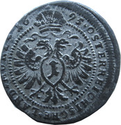 1 Kreuzer landmünz - Leopold I (Vienna) -  reverse