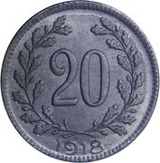 20 Heller - Karl I -  reverse