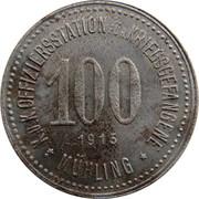 100 Heller (K&K POW Mühling) – reverse