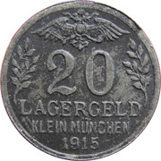 20 Heller (K&K POW Kleinmünchen) – obverse