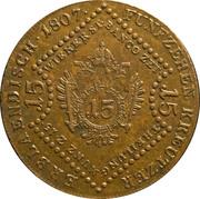 15 Kreutzer - Franz II -  reverse