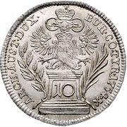 10 Kreuzer - Maria Theresia (Vienna) -  reverse