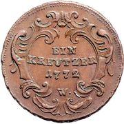 1 Kreutzer - Maria Theresia -  reverse