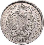 17 Kreuzer - Maria Theresia (Hall) -  reverse