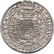 2 Thaler - Ferdinand II (Vienna) -  reverse