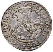 30 Kreuzer ½ Guldenthaler - Ferdinand I (Klagenfurt) -  obverse