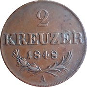 2 Kreuzer - Ferdinand I -  reverse