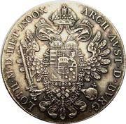 1 Thaler - Franz II -  reverse