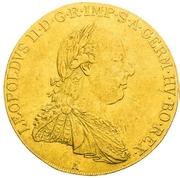 4 Ducats - Leopold II (Vienna) -  obverse