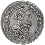 ½ Thaler - Ferdinand II (Graz) -  obverse