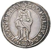 ¼ Thaler - Leopold I (Vienna) -  obverse