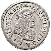 6 Kreuzer - Leopold I (Graz) -  obverse