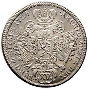15 Kreuzer - Karl VI (Graz) -  reverse