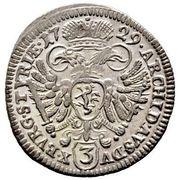 3 Kreuzer - Karl VI (Graz) -  reverse