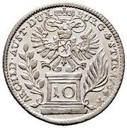 10 Kreuzer - Maria Theresia (Graz) -  reverse