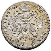 6 Kreuzer - Maria Theresia (Hall) -  reverse