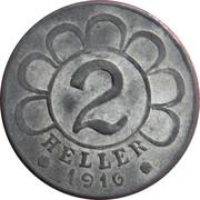 2 Heller (Internment camp Katzenau) -  reverse