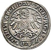 12 Kreuzer 1/6 Reichsthaler - Ferdinand I (Hall) -  reverse