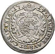 3 Kreuzer - Karl VI (St Veit) -  reverse