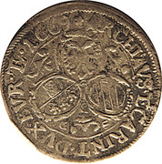 3 Kreuzer - Leopold I (St Veit) -  reverse