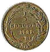 ½ Kreutzer - Joseph II -  reverse