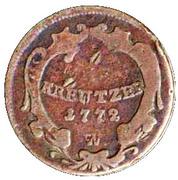 1 Kreutzer - Joseph II -  reverse