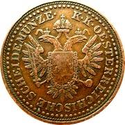 3 Kreuzer - Franz Joseph I -  obverse