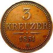 3 Kreuzer - Franz Joseph I -  reverse