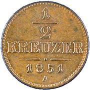 ½ Kreuzer - Franz Joseph I -  reverse