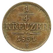 ¼ Kreuzer - Franz Joseph I -  reverse