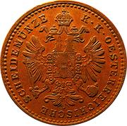 1 Kreuzer - Franz Joseph I -  obverse