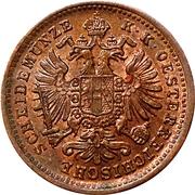 1 Kreuzer - Franz Joseph I (larger eagle) -  obverse