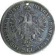 2 Florin - Franz Joseph I -  reverse