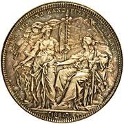 2 Florins - Franz Joseph I (Shooting Thaler) -  reverse