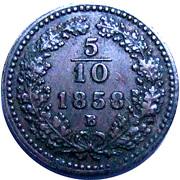 5/10 Kreuzer - Franz Joseph I (small eagle) -  reverse