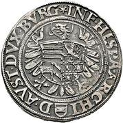 ½ Thaler - Ferdinand I (Vienna) -  reverse