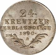 24 Kreuzer - Franz II -  reverse